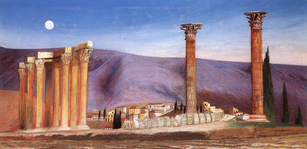 Ruins of the Jupiter Temple in Athens - Tivadar Kosztka Csontvary