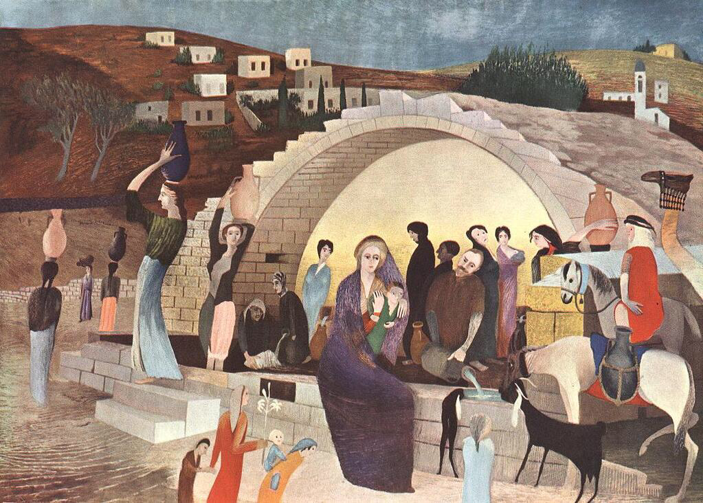 Mary-s Well at Nazareth - Tivadar Kosztka Csontvary