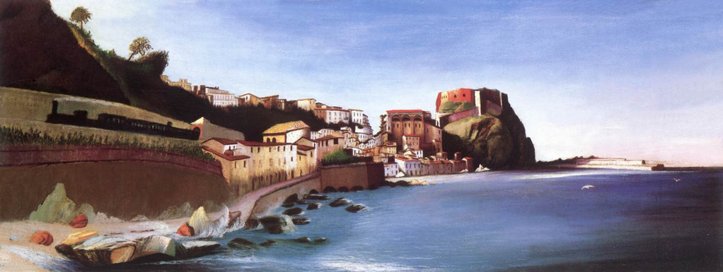 Town at the Seashore - Tivadar Kosztka Csontvary