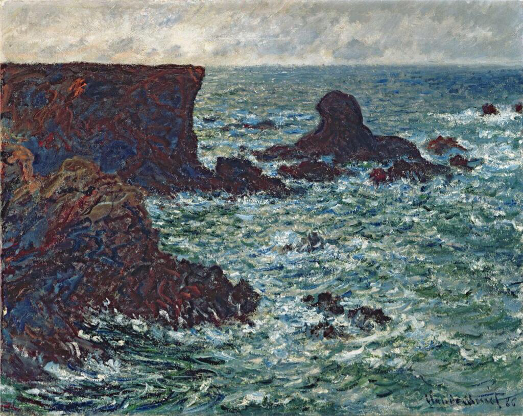 Rocks at Port Coton, the Lion Rock - Claude Monet