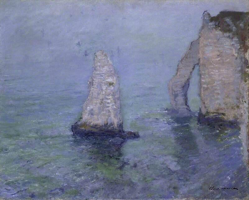 The Rock Needle and Porte d'Aval, Etrétat - Claude Monet
