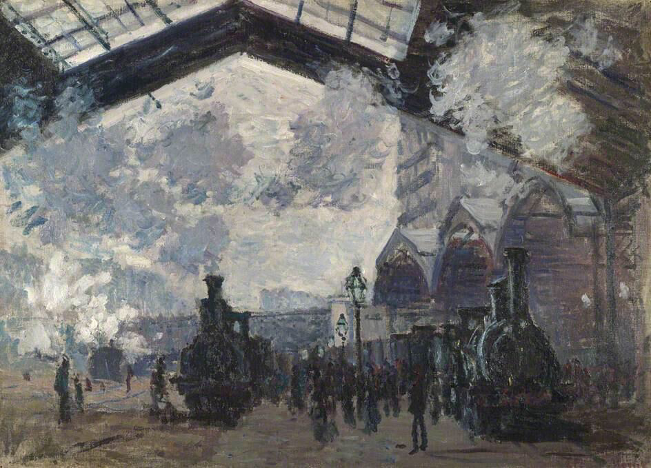 The Gare St-Lazare - Claude Monet