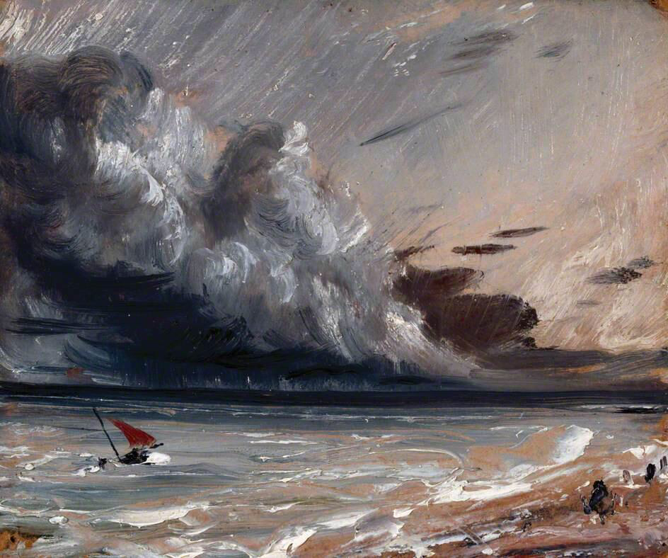 Seascape Study: Boat and Stormy Sky - John Constable