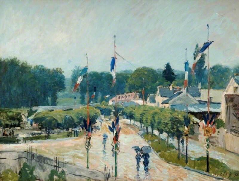 14 July at Marly, France - Alfred Sisley