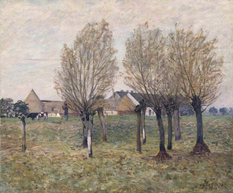 A Normandy Farm - Alfred Sisley