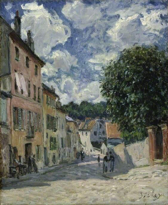 A Street, Possibly in Port-Marly - Alfred Sisley