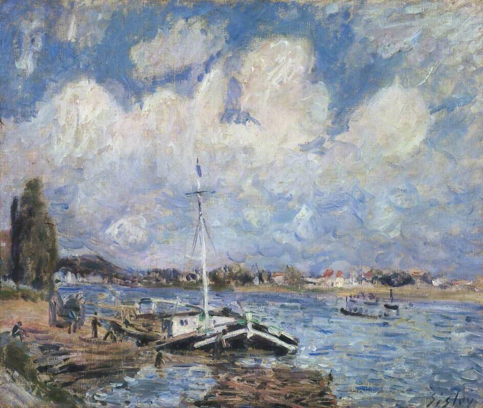 Boats on the Seine - Alfred Sisley