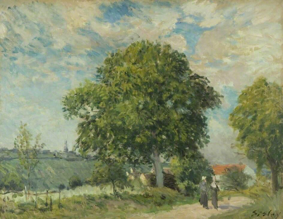 The Entrance to the Village - Alfred Sisley