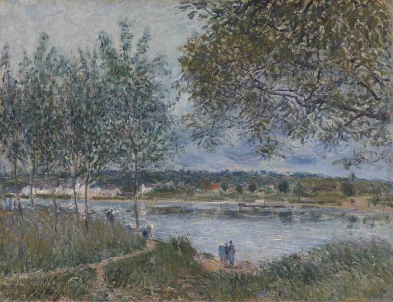 The Path to the Old Ferry at By - Alfred Sisley