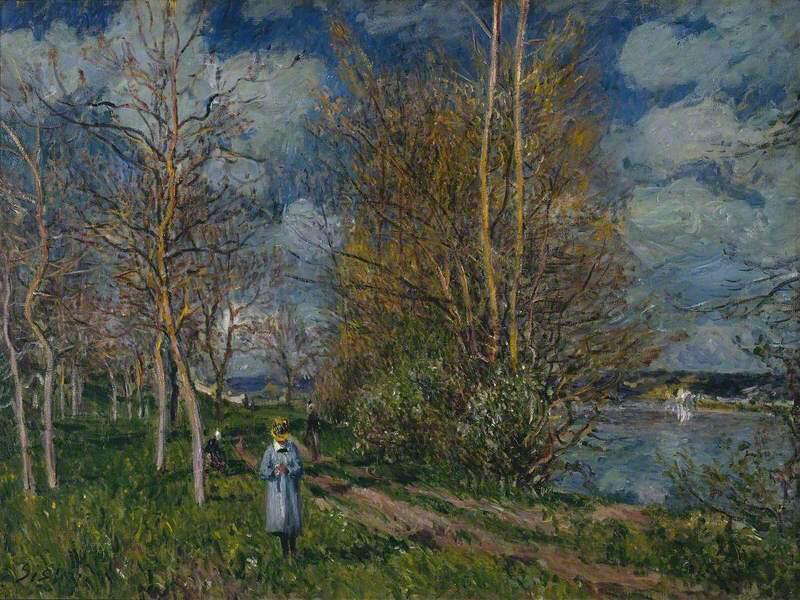 The Small Meadows in Spring - Alfred Sisley