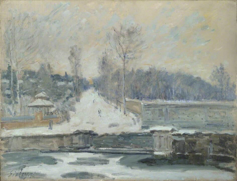 The Watering Place at Marly-le-Roi - Alfred Sisley