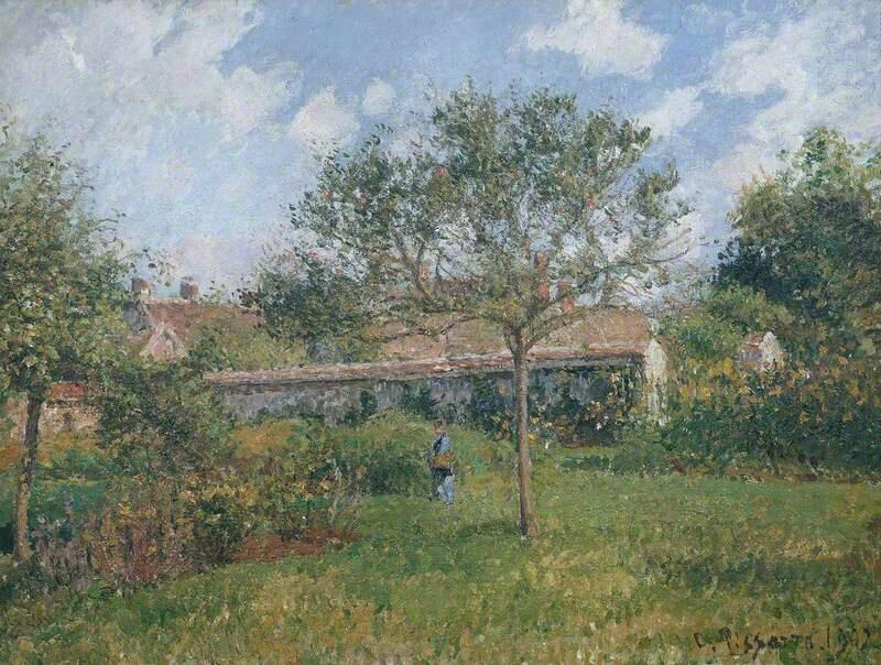 A Corner of the Meadow at Eragny - Camille Pissarro