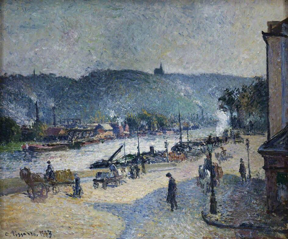 Quays at Rouen - Camille Pissarro