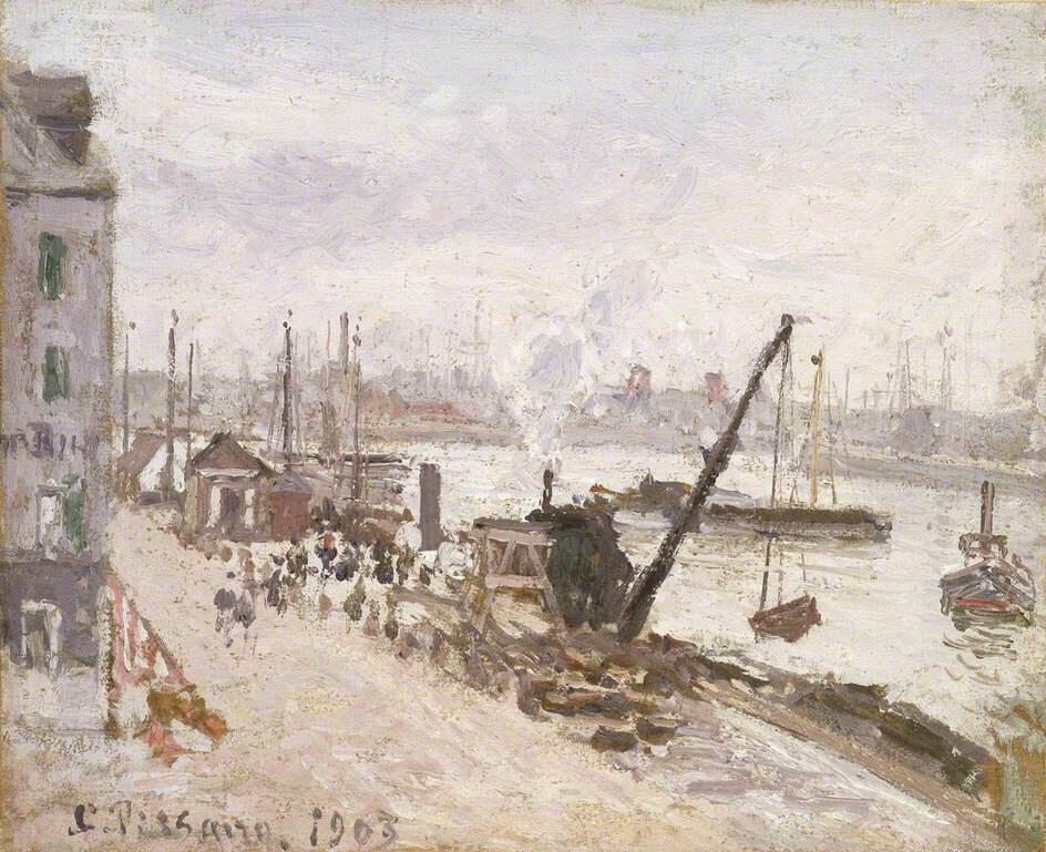 Quayside at Le Havre - Camille Pissarro