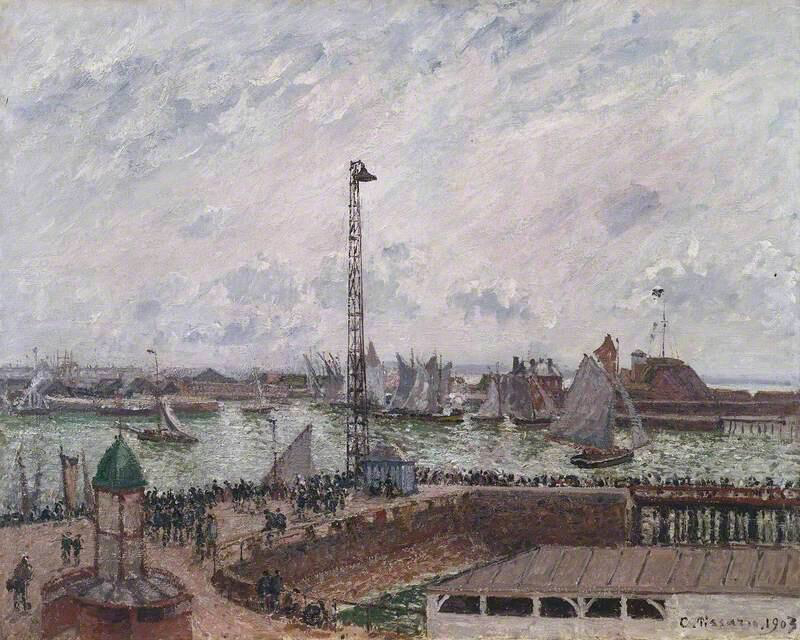 The Pilots' Jetty, Le Havre, Morning - Camille Pissarro