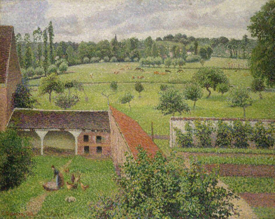 View from my Window, Éragny-sur-Epte - Camille Pissarro