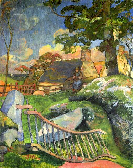 The Wooden Gate - Paul Gauguin