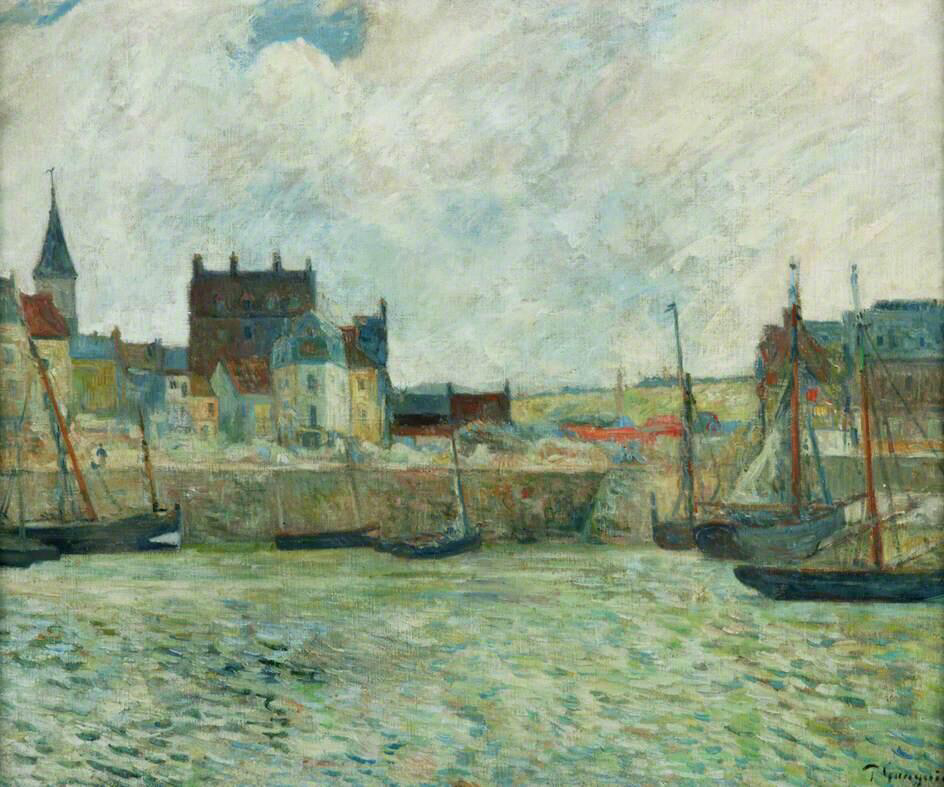 Harbour Scene, Dieppe - Paul Gauguin