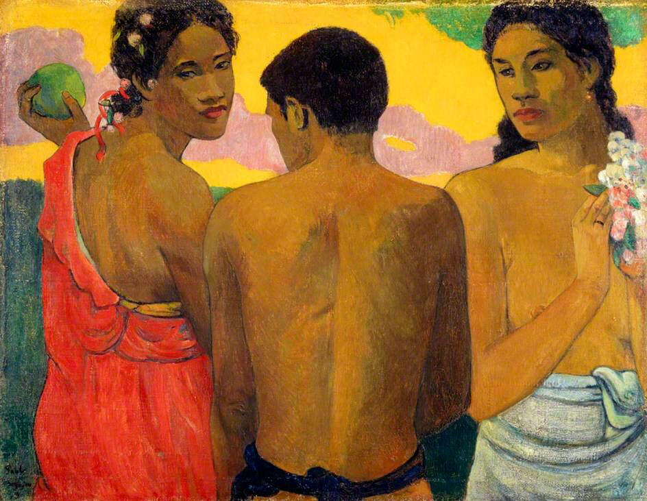 Three Tahitians - Paul Gauguin