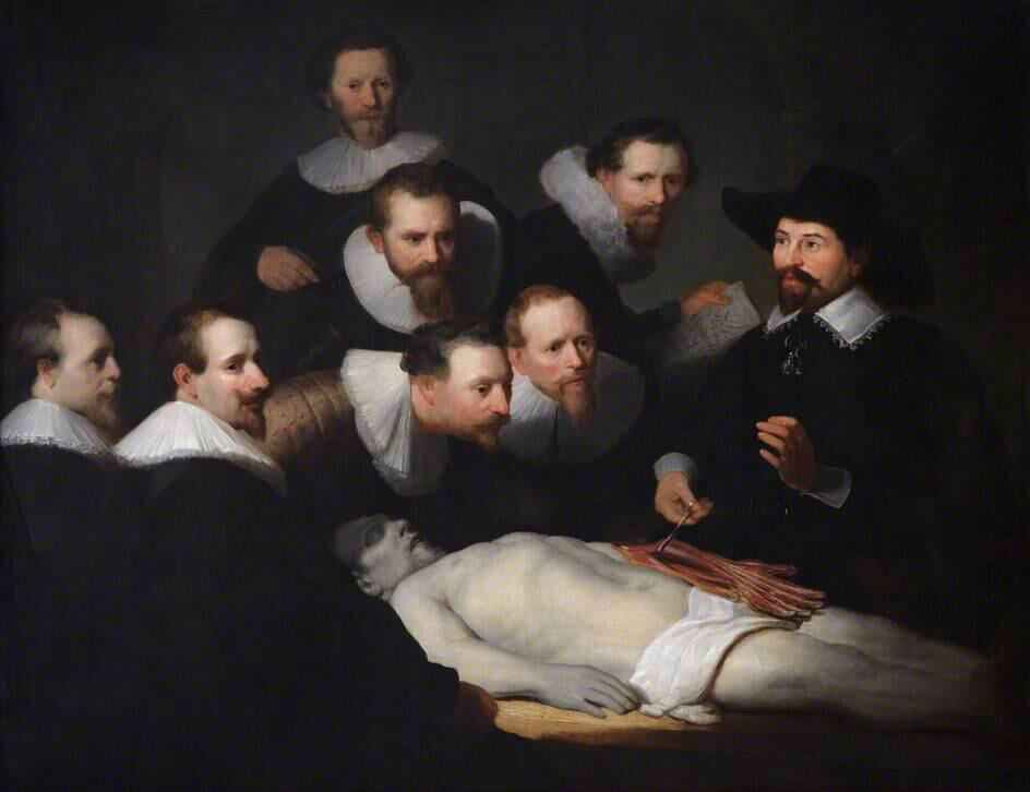 The Anatomy Lesson of Dr Tulp - Rembrandt van Rijn