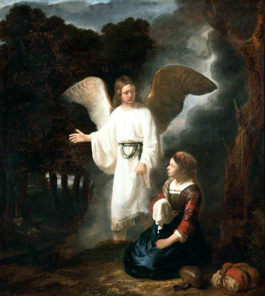 The Angel Appearing to Hagar - Rembrandt van Rijn