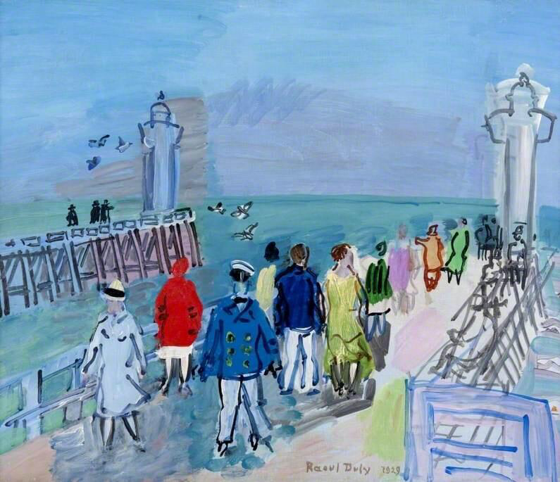 The Jetties of Trouville-Deauville - Raoul Dufy