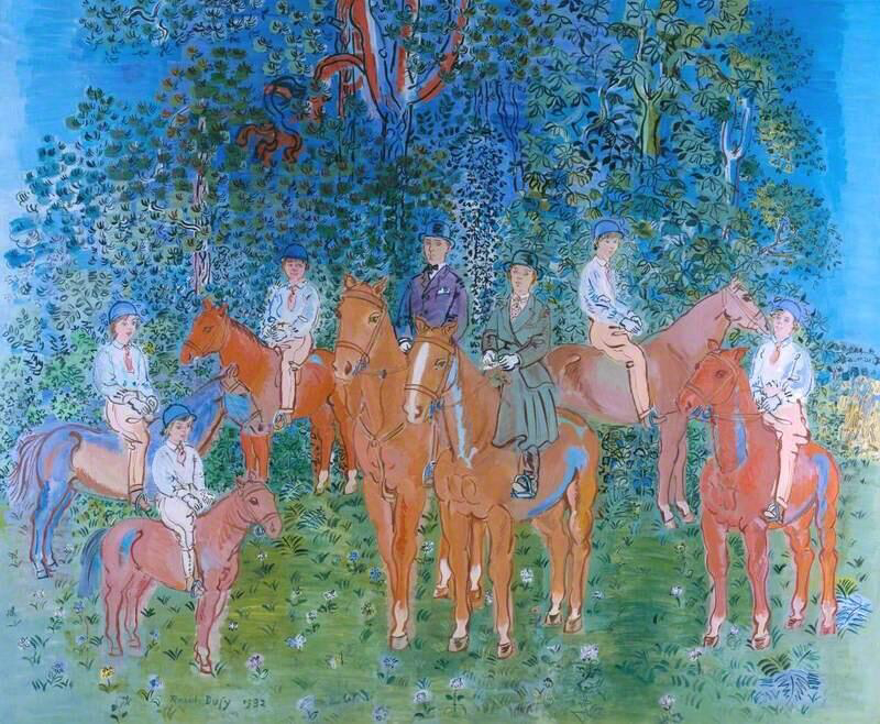The Kessler Family on Horseback - Raoul Dufy