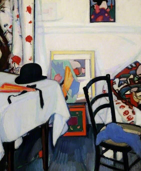 Interior with a Japanese Print - Samuel John Peploe