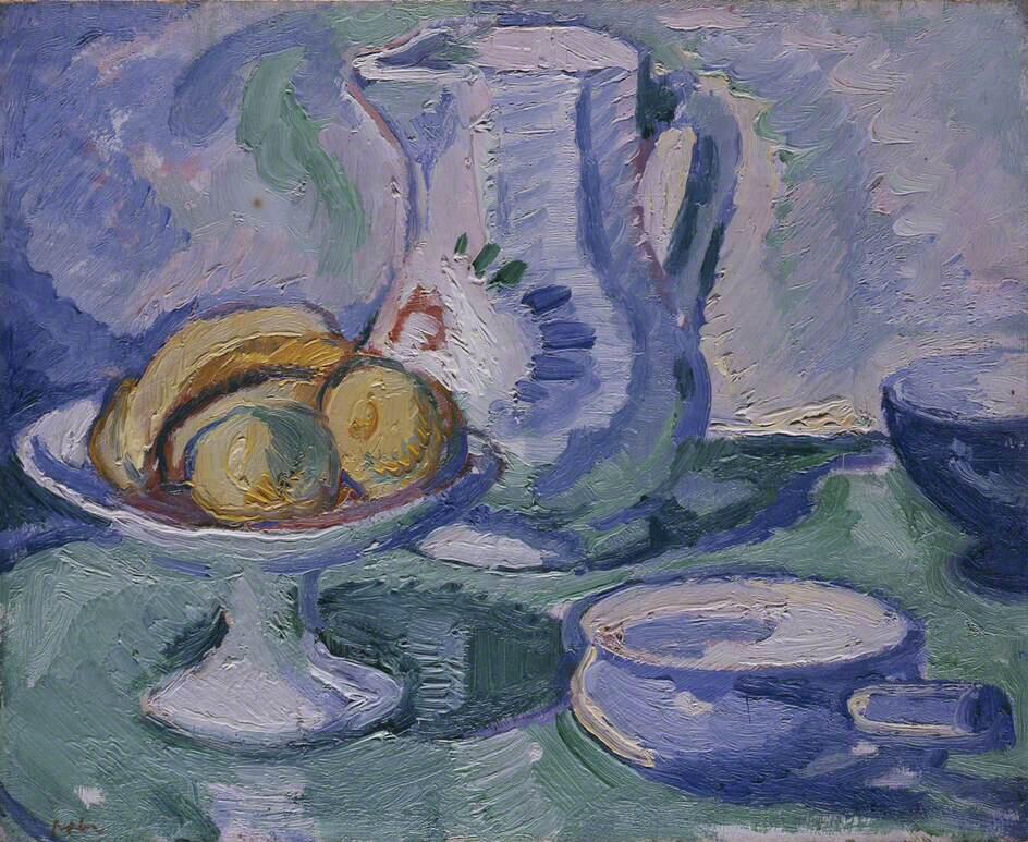 Jug and Yellow Fruit - Samuel John Peploe