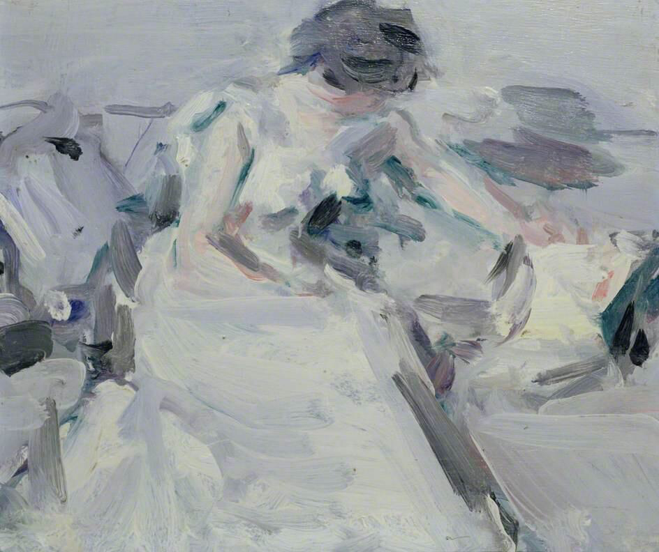 Lady in a White Dress - Samuel John Peploe