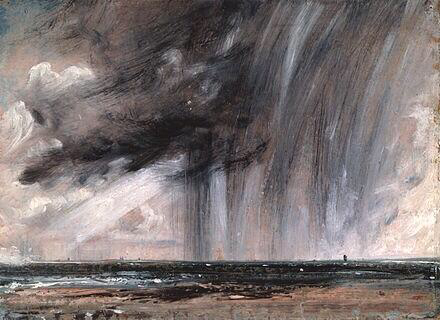 Seascape Study with Rain Cloud - John Constable