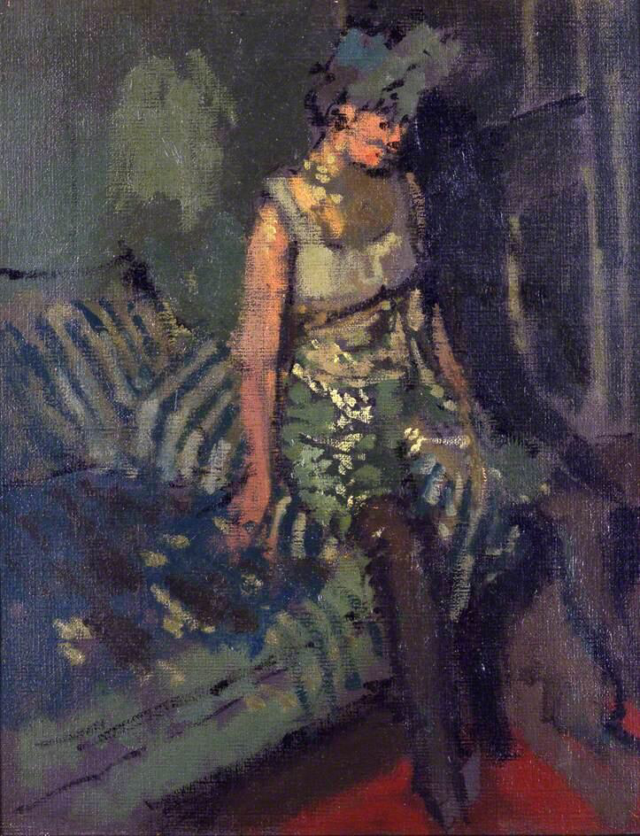 A Dancer in a Green Dress, Marie - Walter Richard Sickert