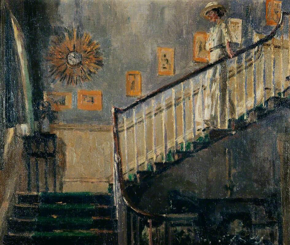 Ethel Sands Descending the Staircase at Newington - Walter Richard Sickert