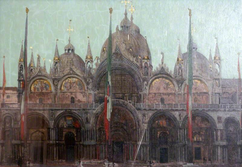 The Façade of San Marco, Venice - Walter Richard Sickert