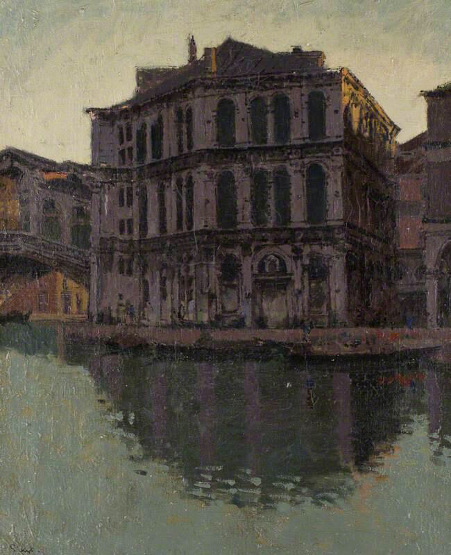 The Rialto Bridge and the Palazzo dei Camerlenghi - Walter Richard Sickert