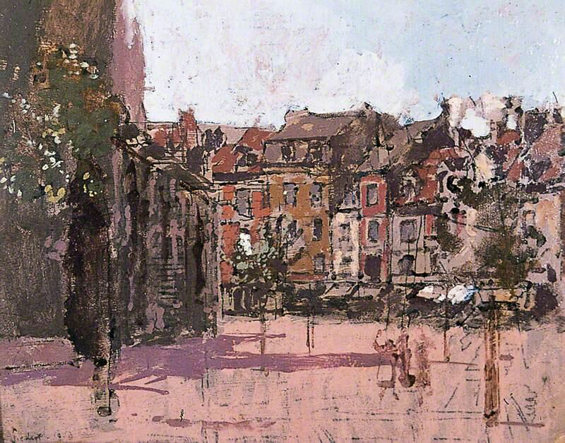 The Rue de la Boucherie with the Church of St Jacques, Dieppe - Walter Richard Sickert