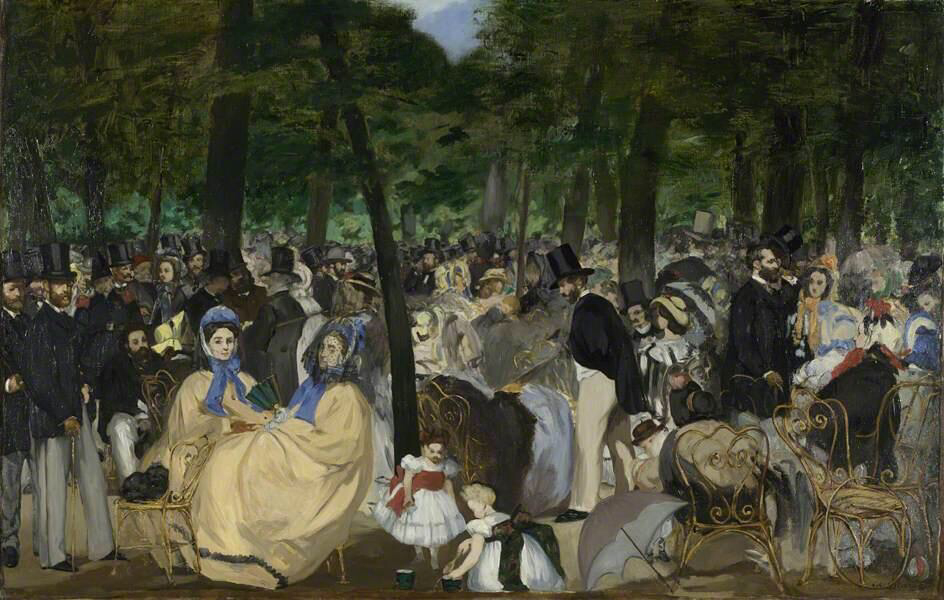 Music in the Tuileries Gardens - Édouard Manet