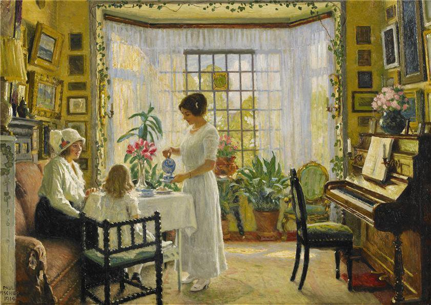 Afternoon Tea - Paul Gustav Fischer