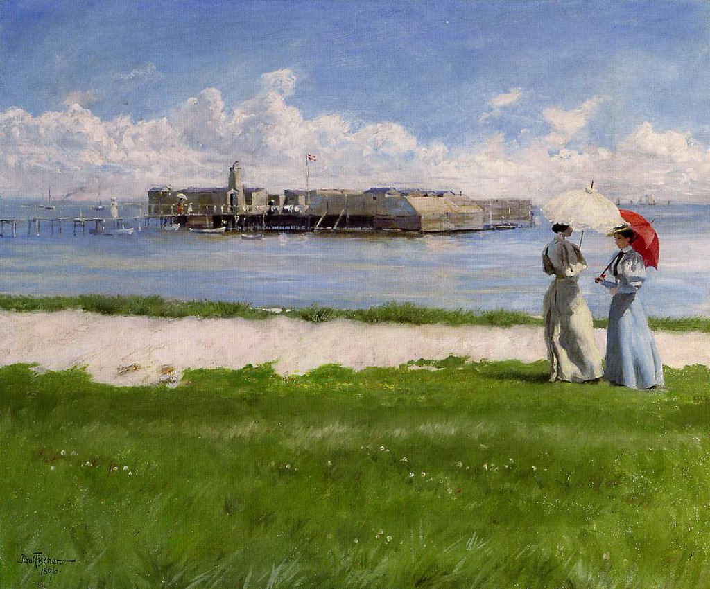 The Conversation, Helgoland - Paul Gustav Fischer
