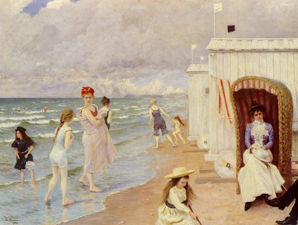 The Day at the Beach - Paul Gustav Fischer