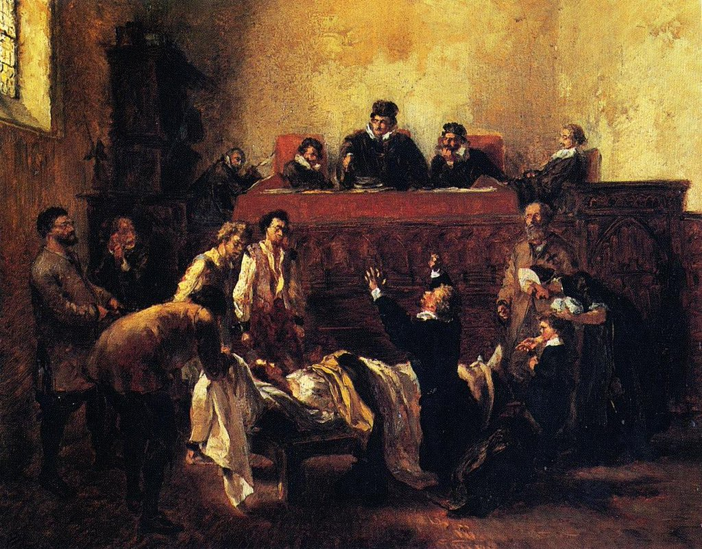 Day of the Hearing - Adolph Menzel