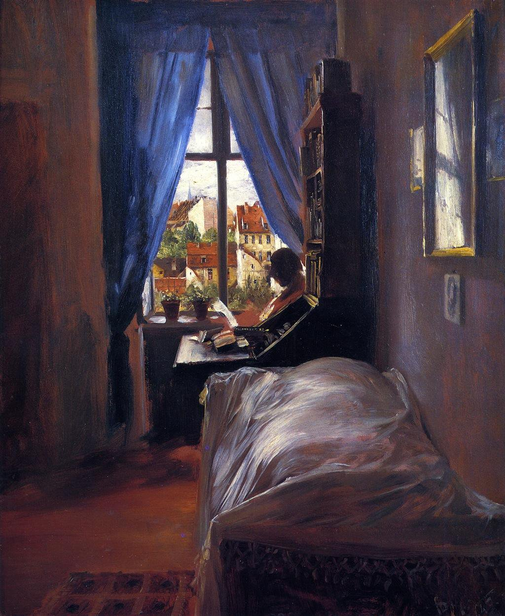 The Artist's Bedroom in Ritterstrasse - Adolph Menzel