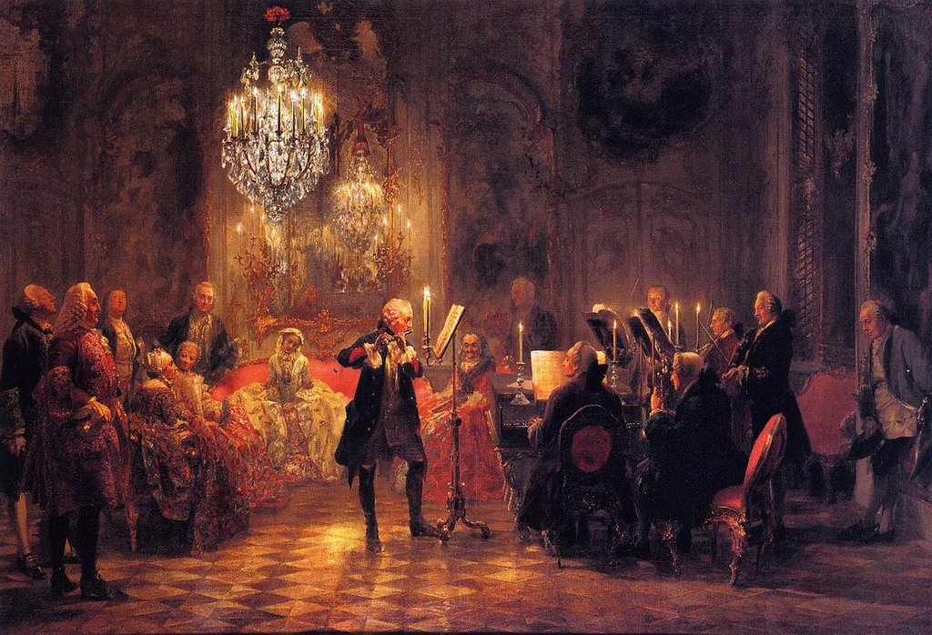The Flute Concert of Frederick the Great at Sanssouci - Adolph Menzel
