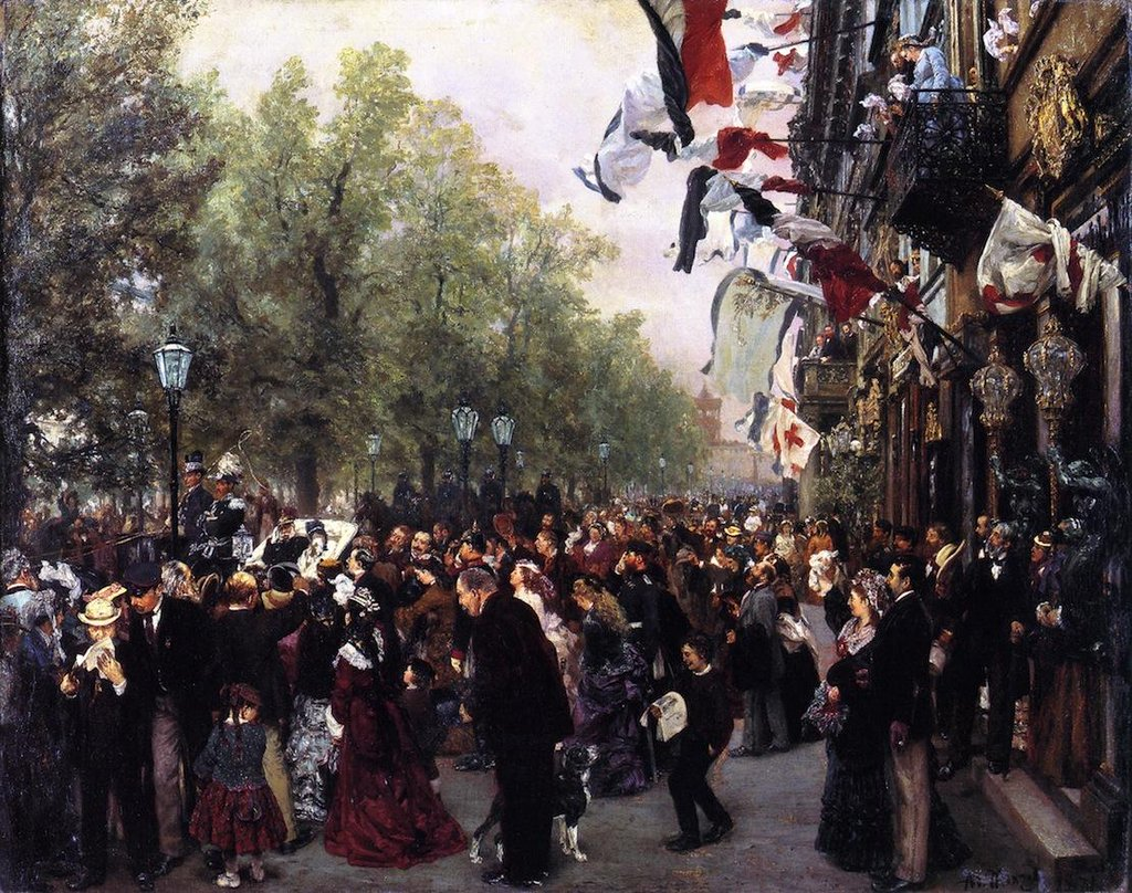 Departure of King William I for the Army - Adolph Menzel
