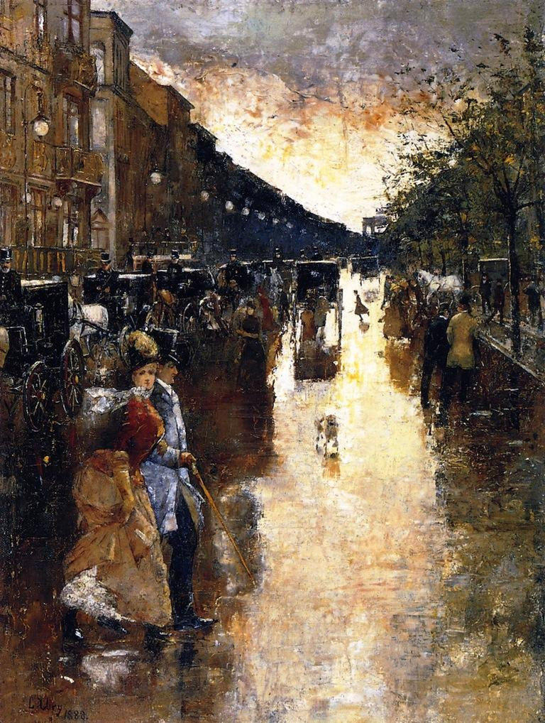 Unter den Linden after the Rain - Lesser Ury