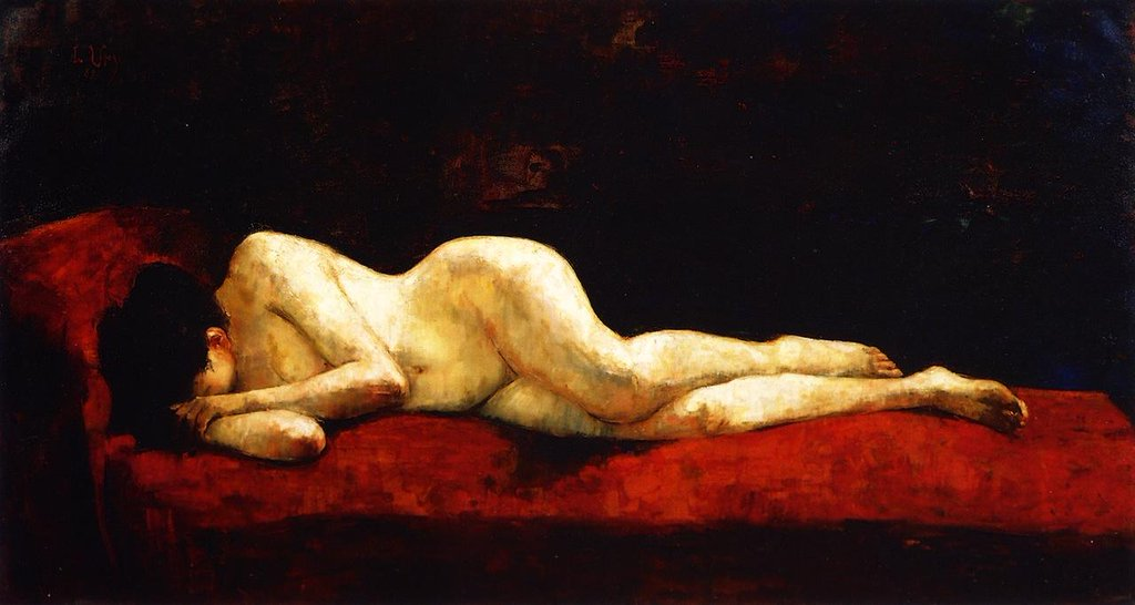 Nude Lying Down - Lesser Ury
