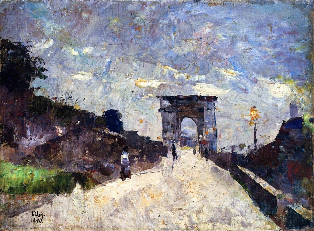 The Titus Arch in Rome - Lesser Ury