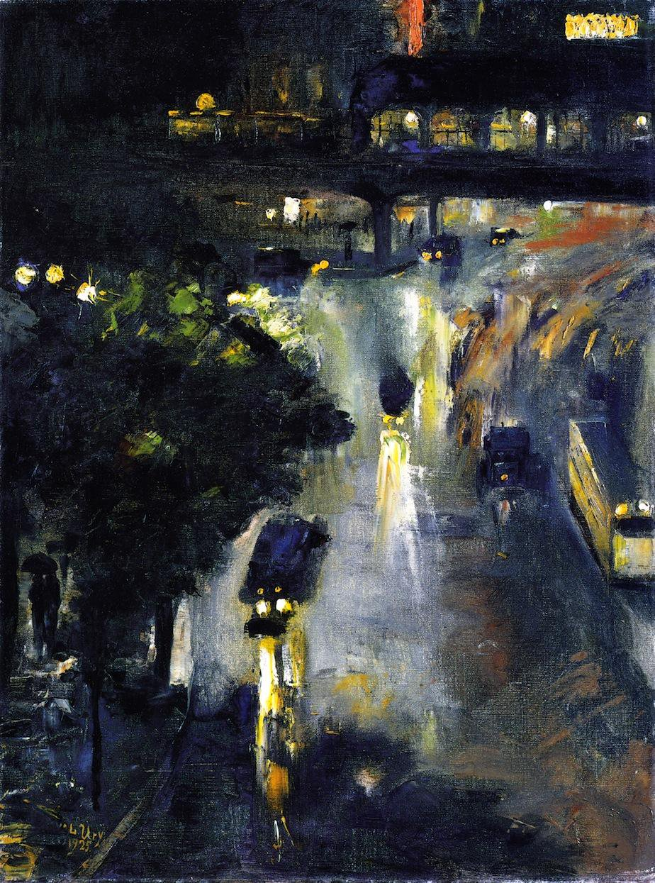 Nollendorfplazt at Night - Lesser Ury