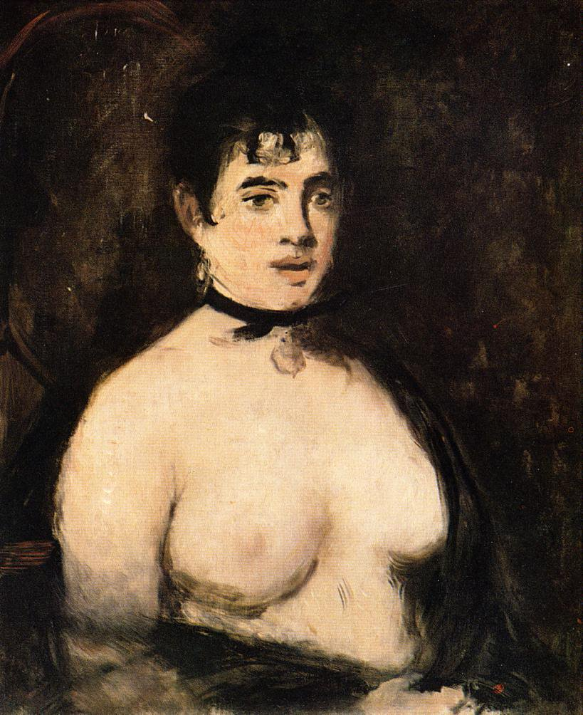 The Brunette with Bare Breasts - Édouard Manet