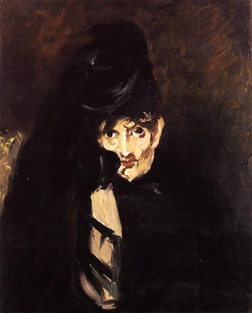 Portrait of Berthe Morisot with Hat, in Mourning - Édouard Manet